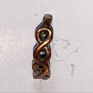 Infinity Bronze colour very small ring / toe ring